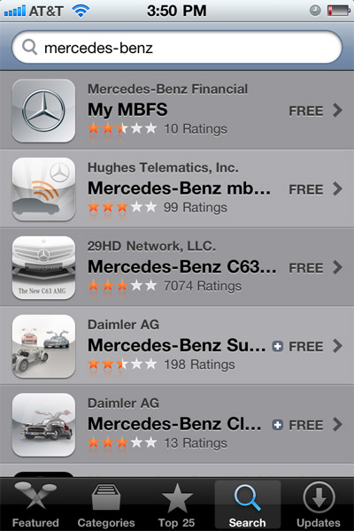 mercedes-apps