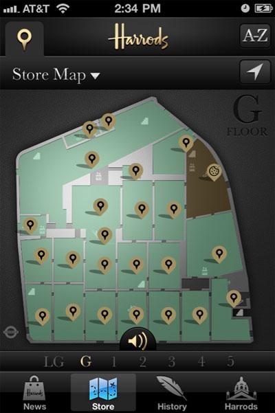 Harrod store - Floormap