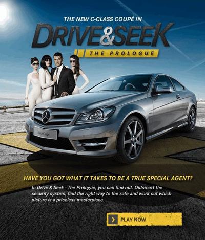 Mercedes benz pushes new models via personalized social for Mercedes benz games