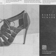 Barneys QR code ad in the New York Times