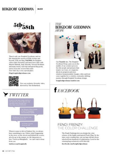 Bergdorfs showcases its digital efforts on a catalog page