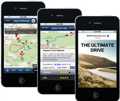 The Ulimate Drive App uses GPS and social media to provide a unique experience
