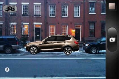 BMW's X3 mobile augmented reality app