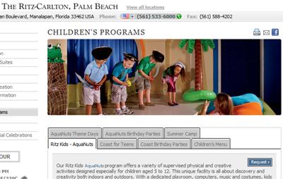 The Ritz Carlton Palm Beach summer kids programs