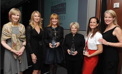 Valerie Salembier, Stefanie Graf, Gracie Cavnar, Ann McGee, Anne Adler (accepting for Ann Tisch) and Jennifer Judkins