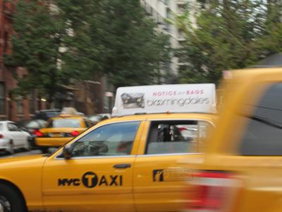 Bloomingdales' taxi ad