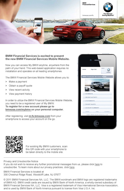 bmw financial services enables mobile payments with. Black Bedroom Furniture Sets. Home Design Ideas