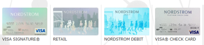Nordstrom's credit and debit cards