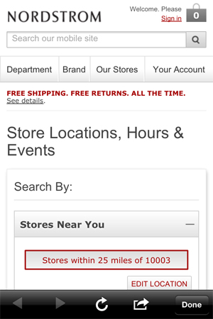 nordstrom draw store locator