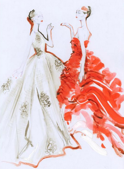 Fashion Show Drawings Designer Sketches in Diormag