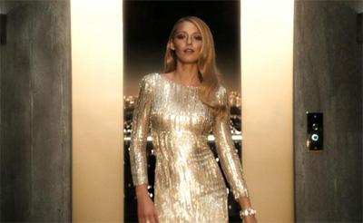 Blake lively gold dress gucci