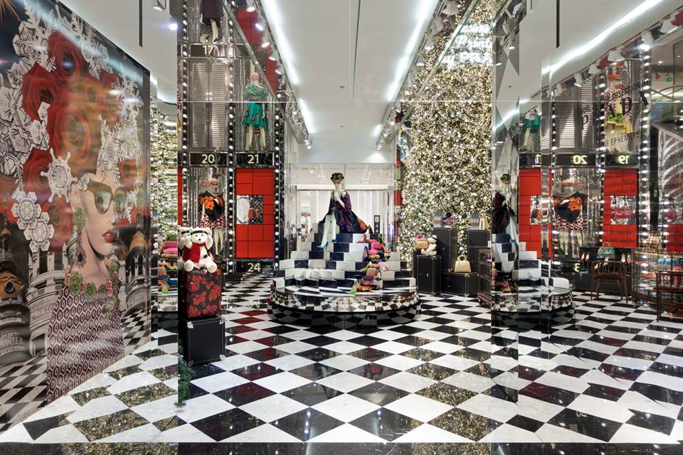 """Printemps partners with Prada to infuse holiday windows with """"A ..."""
