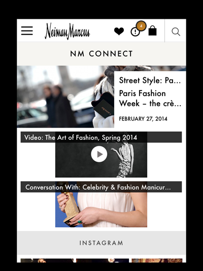 Neiman Marcus app Connect