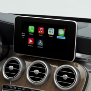 Apple CarPlay in a Mercedes-Benz