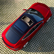 Aerial view of Tesla's Model S