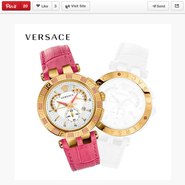 Versace's V-Race watch on Pinterest