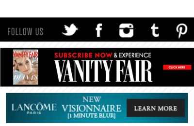 Lancome Vanity Fair mobile ad Minute Blur