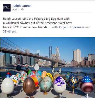 Ralph Lauren Faberge Egg Hunt Facebook