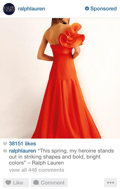 Ralph Lauren Instagram ad