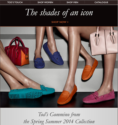 Tod s diverges from conservative aesthetic for iconic shoe campaign
