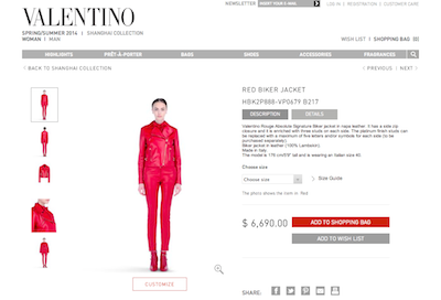 Valentino Rouge Absolute Signature ecommerce