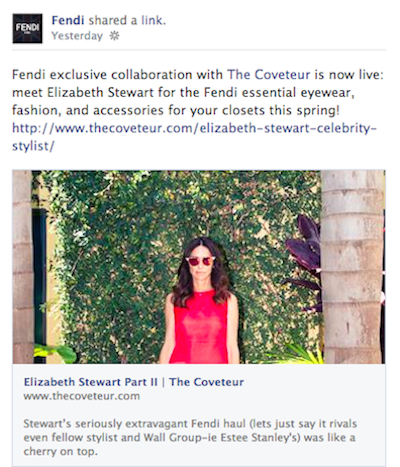 Fendi The Coveteur Facebook