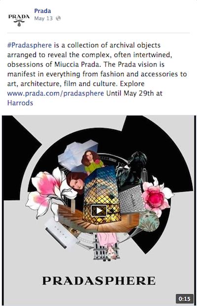 Pradasphere microsite Facebook
