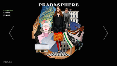 Pradasphere microsite homepage
