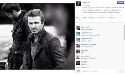 Belstaff incentivizes email subscriptions through David Beckham.