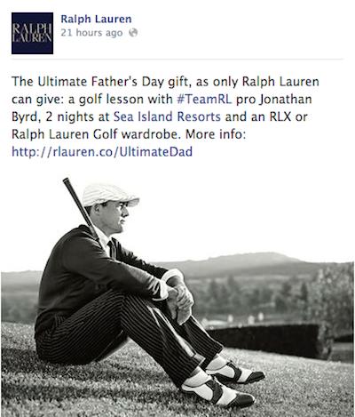 Ralph Lauren Father's Day golf Facebook