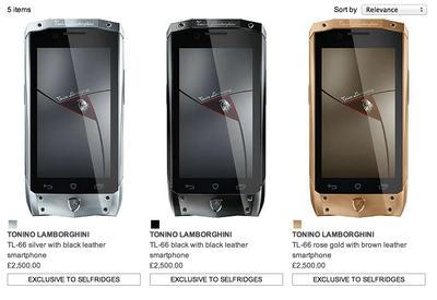 tonino lambo.smartphone selfridges