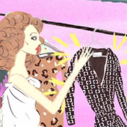 Video still from DVF wrap dress animation