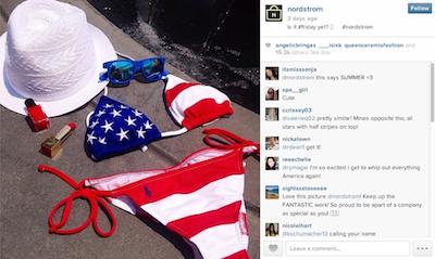 Nordstrom July 4 Instagram