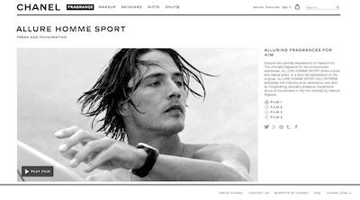 Chanel Allure Homme Sport landing
