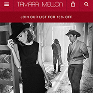 Tamara Mellon's mobile site