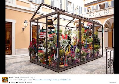 Marni Flower Market tweet