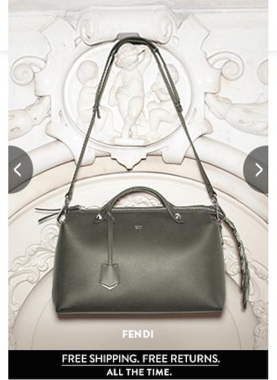 Nordstrom ad Vogue mobile site Fendi