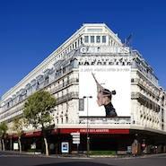 Exterior of Galeries Lafayette Haussmann flagship