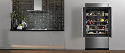 Jenn air taps west coast design sentiment with event for Jenn air obsidian refrigerator