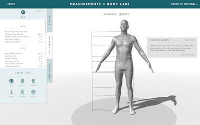 Label Body Labs screenshot