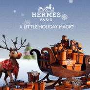 Hermès holiday-themed mobile ad