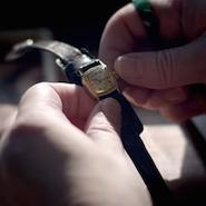 Glashütte watch from Time Traveler film