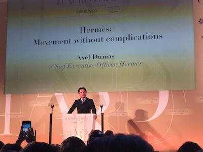 Hermes Axel Dumas Conde Nast Luxury