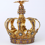 "Crown dating to 1760 from Portugal on display in the Victoria & Albert ""What is Luxury?"" exhibit"