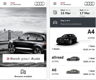 Audi on Demand app