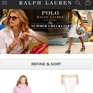 Ralph Lauren summer promo on mobile site