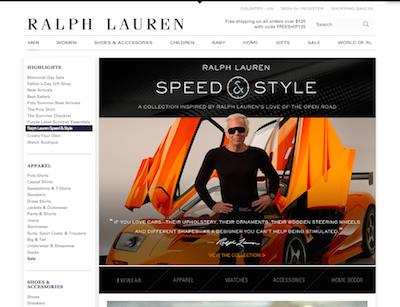 Ralph Lauren auto 1