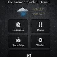 Fairmont's mobile app