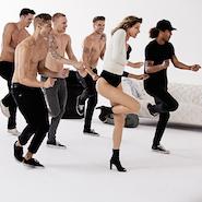 "Gisele Bündchen on set of ""Make That Move"""