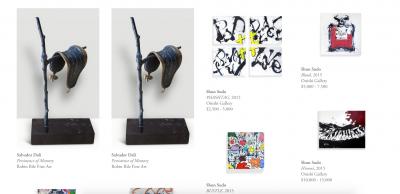 Artsy sale page